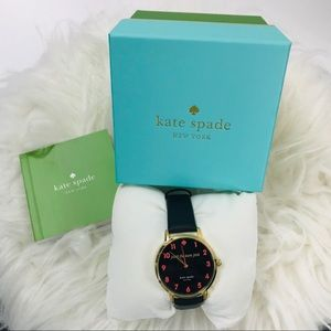 Kate Spade. Black Paint the town pink watch
